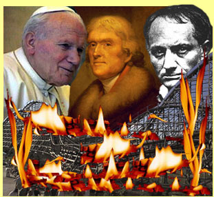 Eight-Fingered Pontiff, Jefferson, Baudelaire in a Burning Holy See World