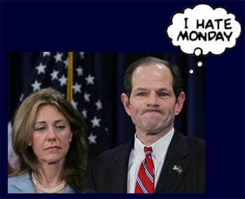 Eliot Spitzer having a very bad start to his week